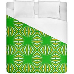 Retro Green Pattern Duvet Cover Single Side (double Size) by ImpressiveMoments