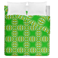 Retro Green Pattern Duvet Cover (full/queen Size) by ImpressiveMoments