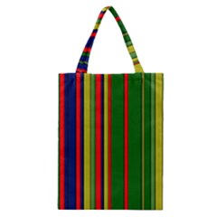 Hot Stripes Grenn Blue Classic Tote Bags