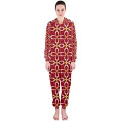 Cute Seamless Tile Pattern Gifts Hooded Jumpsuit (ladies)