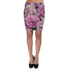 Great Garden Roses Pink Bodycon Skirts by MoreColorsinLife