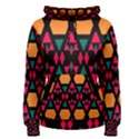 Rhombus and other shapes pattern Women s Pullover Hoodie View1
