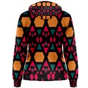 Rhombus and other shapes pattern Women s Pullover Hoodie View2