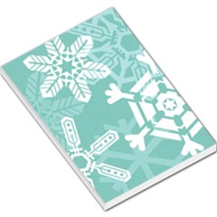 Snowflakes 3  Large Memo Pads by theimagezone
