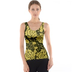 Floral Wallpaper Forest Tank Tops