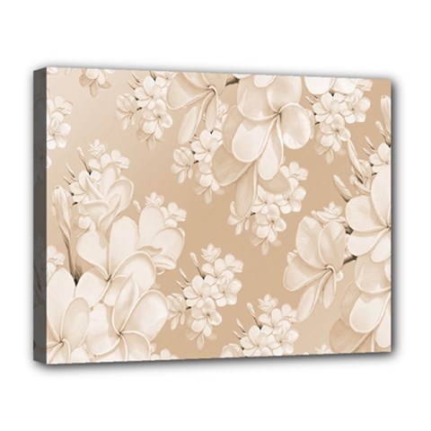 Delicate Floral Pattern,softly Canvas 14  X 11  by MoreColorsinLife