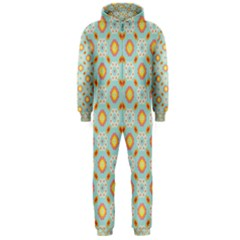 Cute Seamless Tile Pattern Gifts Hooded Jumpsuit (men)