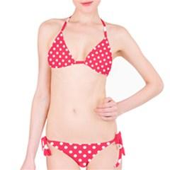 Hot Pink Polka Dots Bikini Set