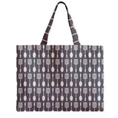 Gray And White Kitchen Utensils Pattern Zipper Tiny Tote Bags by creativemom