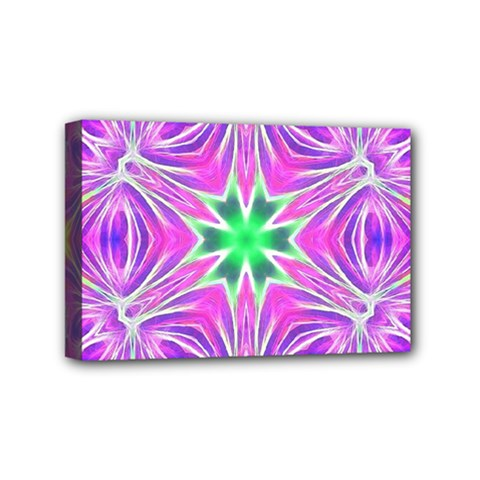Kaleido Art, Pink Fractal Mini Canvas 6  X 4  by MoreColorsinLife
