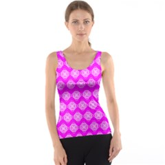 Abstract Knot Geometric Tile Pattern Tank Tops
