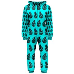 Ladybug Vector Geometric Tile Pattern Hooded Jumpsuit (ladies)  by creativemom