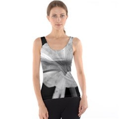 Exotic Black And White Flower 2 Tank Tops