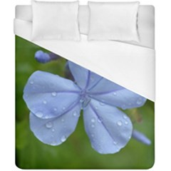 Blue Water Droplets Duvet Cover Single Side (double Size) by timelessartoncanvas