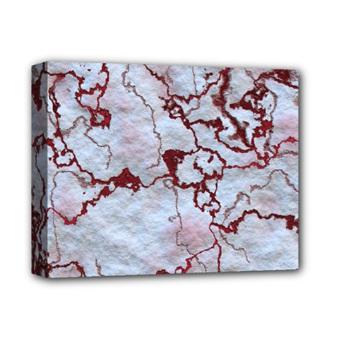 Marbled Lava Red Deluxe Canvas 14  X 11  by MoreColorsinLife