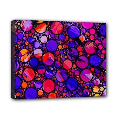 Lovely Allover Hot Shapes Canvas 10  X 8  by MoreColorsinLife
