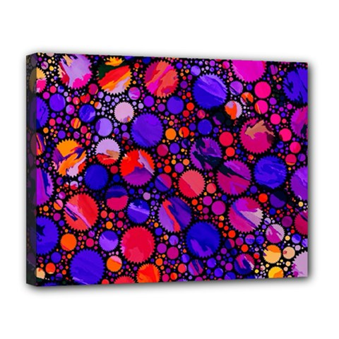 Lovely Allover Hot Shapes Canvas 14  x 11  by MoreColorsinLife