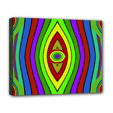 Colorful Symmetric Shapes Deluxe Canvas 20  X 16  (stretched) by LalyLauraFLM