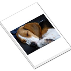 Beagle Sleeping Large Memo Pads by TailWags