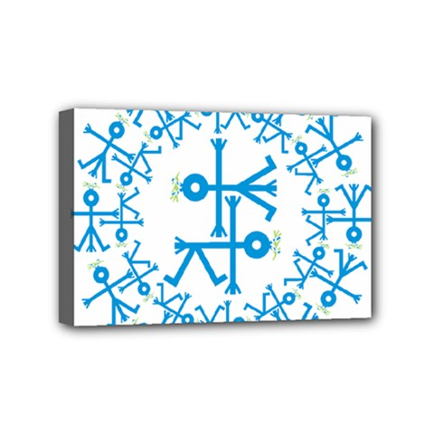 Blue Birds And Olive Branch Circle Icon Mini Canvas 6  X 4  by thisisnotme