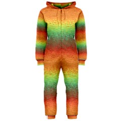 Gradient Chaos Hooded Onepiece Jumpsuit by LalyLauraFLM