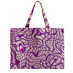 Ribbon Chaos 2 Lilac Zipper Tiny Tote Bags