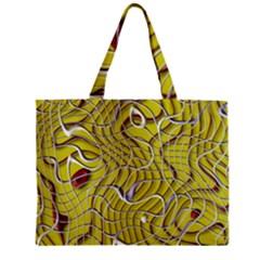 Ribbon Chaos 2 Yellow Zipper Tiny Tote Bags