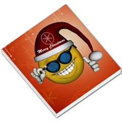 Funny Christmas Smiley With Sunglasses Small Memo Pads by FantasyWorld7