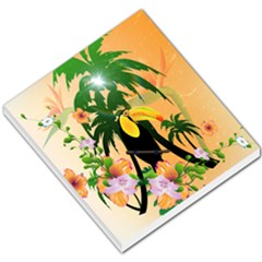 Cute Toucan With Palm And Flowers Small Memo Pads by FantasyWorld7