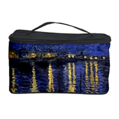 Vincent Van Gogh Starry Night Over The Rhone Cosmetic Storage Cases by MasterpiecesOfArt