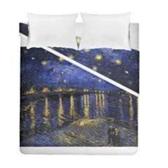 Vincent Van Gogh Starry Night Over The Rhone Duvet Cover (twin Size) by MasterpiecesOfArt