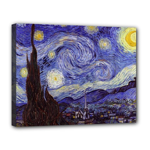Van Gogh Starry Night Canvas 14  X 11  by MasterpiecesOfArt