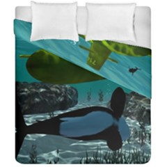 Submarine With Orca Duvet Cover (double Size) by FantasyWorld7
