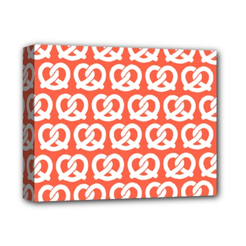 Coral Pretzel Illustrations Pattern Deluxe Canvas 14  X 11  by creativemom
