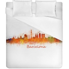 Barcelona City Art Duvet Cover Single Side (double Size) by hqphoto
