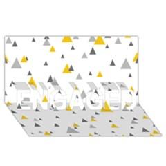 Pastel Random Triangles Modern Pattern Engaged 3d Greeting Card (8x4)