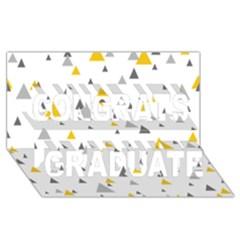Pastel Random Triangles Modern Pattern Congrats Graduate 3D Greeting Card (8x4)