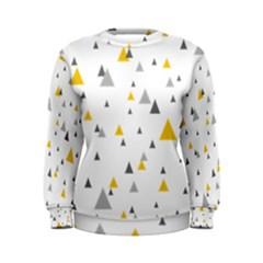 Pastel Random Triangles Modern Pattern Women s Sweatshirts