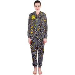 Sci Fi Fantasy Cosmos Yellow Hooded Jumpsuit (ladies)