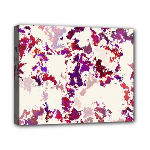 Splatter White Canvas 10  X 8  by MoreColorsinLife