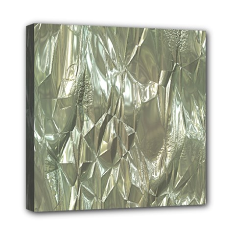 Crumpled Foil Mini Canvas 8  x 8  by MoreColorsinLife