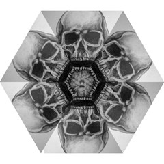 Skull Mini Folding Umbrella by ArtByThree