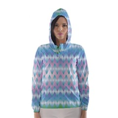 Fishbone Chevron ZIg Zag Rainbow Hooded Wind Breaker (Women)	 by CircusValleyMall