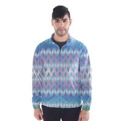 Fishbone Chevron Zig Zag Rainbow Wind Breaker (men) by CircusValleyMall