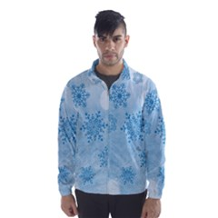 Winter Bokeh Blue Wind Breaker (men) by MoreColorsinLife