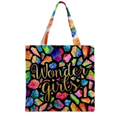 Wondergirls Grocery Tote Bag by walala