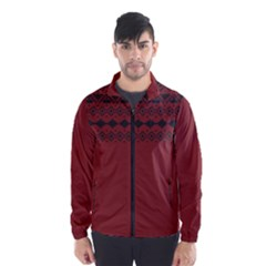 Aztec Red Wind Breaker (men) by maemae