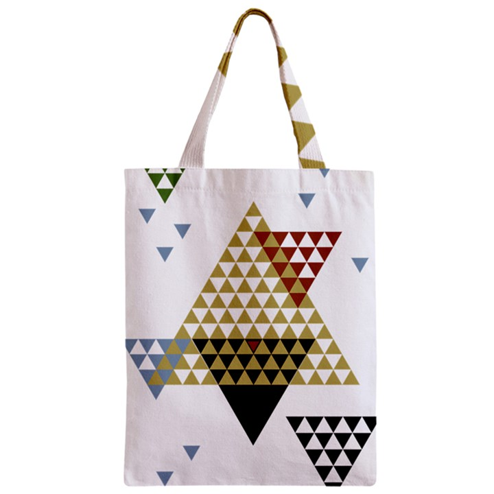 Colorful Modern Geometric Triangles Pattern Classic Tote Bags