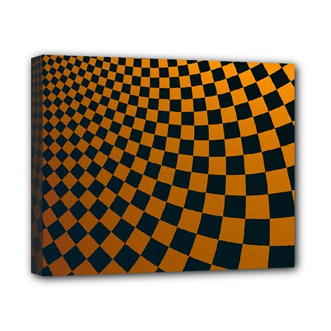 Abstract Square Checkers  Canvas 10  X 8  by OZMedia