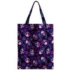 Flowers And Skulls Classic Tote Bag by Ellador